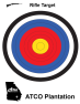 ATCO Plantation -Multiple Color Bullseye Rifle Target