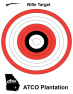 ATCO Plantation - Red White Black Bullseye Rifle Target