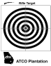 ATCO Plantation - Blackand White Bullseye Rifle Target