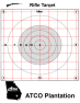 ATCO Plantation - Gridded Black Circle Rifle Target